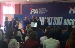 Održana promocija VI. generacije Političke akademije HDZ-a BiH